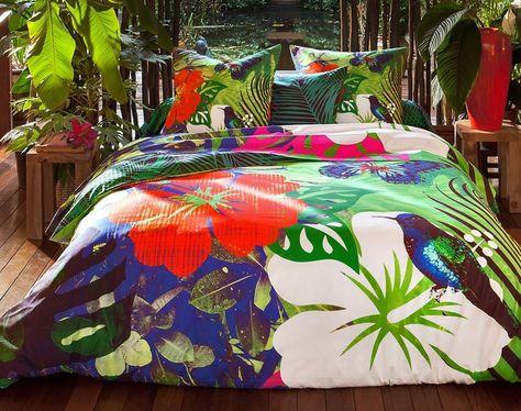 Housse De Couette Becquet Tropical 140x200 Neuf Maison Literie Linge De Lit Linge De Lit Ensembles Linge De Lit Housse De Couette Becquet Linge De Maison