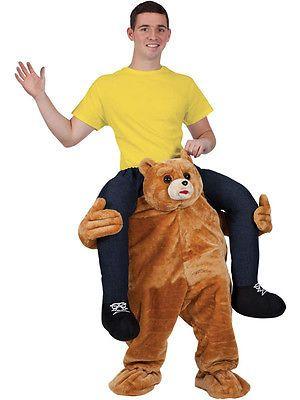 Adult Gorilla Piggyback Ride Me On Piggy Back Costume Monkey Stag Halloween Mens