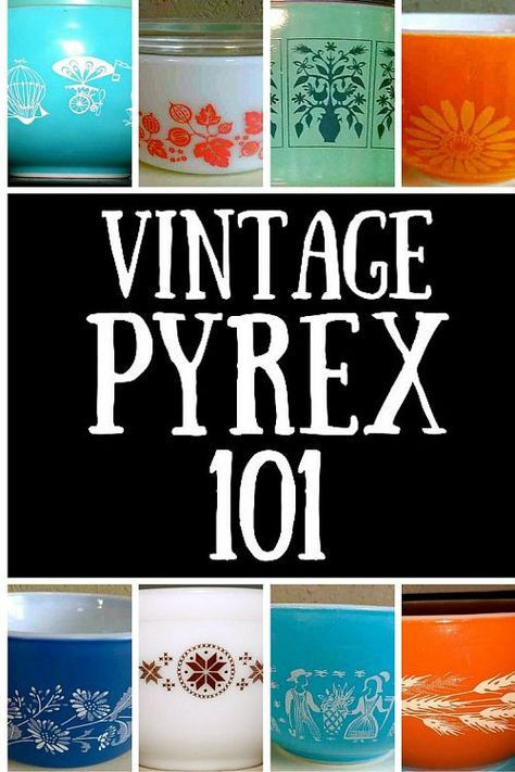A Guide to Pyrex Vintage Pyrex is highly collectible ! This is a great primer on Pyrex for those who want to collectVintage Pyrex is highly collectible ! This is a great primer on Pyrex for those who want to collect Vintage Kitchenware, Vintage Dishes, Vintage Glassware, Antique Dishes, Vintage Tins, Corningware Vintage, Vintage Cookie Jars, Vintage Houses, Vintage Dinnerware