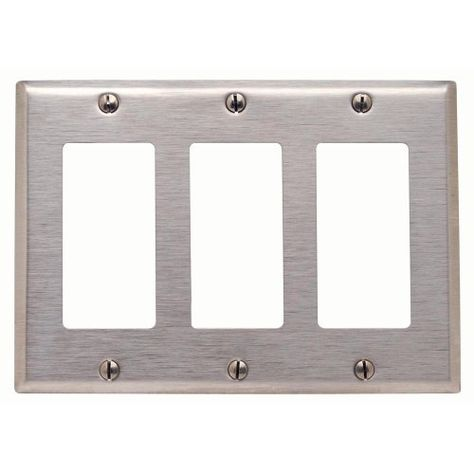 Leviton 84411 40 3 Gang Decora Gfci Device Decora Wallplate Device Mount Stainless Steel By Leviton 9 98 From The Manufac Plates On Wall Leviton Stainless