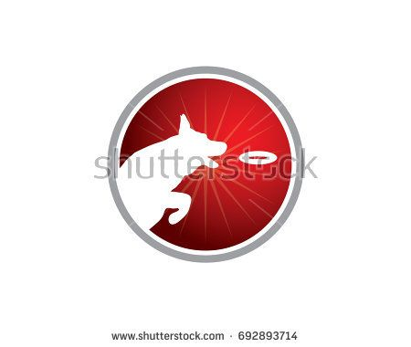 Dog Training Center Logo Dog Silhouette Jumping And Almost