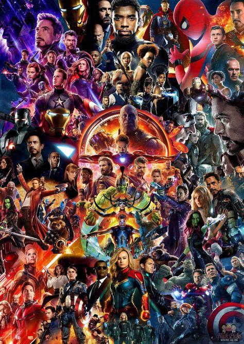 Fã cria pôster sensacional unindo todos os filmes do Universo Cinematográfico Marvel! - Legião dos Heróis