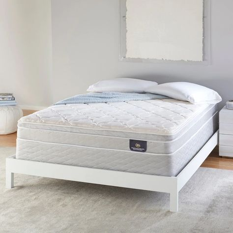 Serta 8 Inch Plush Innerspring Mattress Set In 2020 With Images