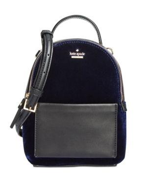f74350ba89 kate spade new york Watson Lane Velvet Merry Mini Crossbody Backpack ...