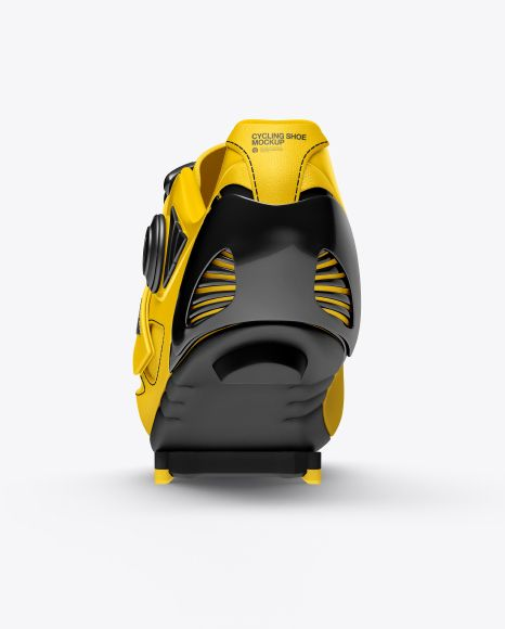 Download Cycling Shoe Mockup Back View In Apparel Mockups On Yellow Images Object Mockups Cycling Shoes Design Mockup Free Mockup Free Psd