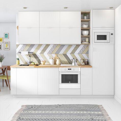 Une Cuisine Blanche Lumineuse Cuisine En 2019 Idee