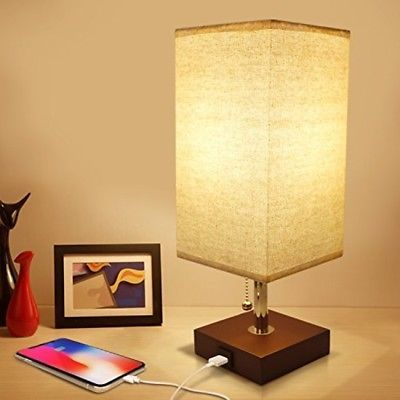 Usb Bedside Table Lamp Minimalist Bedside Desk Lamp With Usb