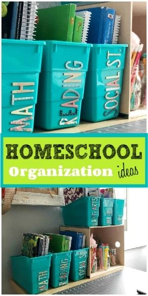 Easy Homeschooling Organization Ideas for a Small Space - including how to organize everything and where to buy what you need. Homeschool Supplies, Homeschool Kindergarten, Homeschool Curriculum, Homeschooling, Diy Organizer, Learning Organization, Organization Ideas, Organizing, Home School Organization