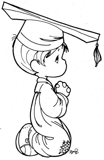 Graduation Precious Moments Coloring Pages Color Pages Pinterest