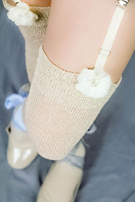5a4c7e03b2b Beige GLITTER Thigh High Stockings - Victorian Steampunk Over the knee Socks  - Winter Wedding stockings - Nude Garter Stockings - Boho Bride