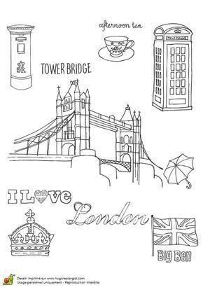 Angleterre Londres Bricolages Coloriages Pour Enfant Blog Voyages Et Enfants Deckblatt Schule Reise Notizbuch Schulideen