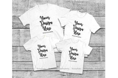 Download Matching Family White T Shirts Mockup 4 Parents Kids Shirts Psd Mockup Template Shirt Mockup Tshirt Mockup Design Mockup Free