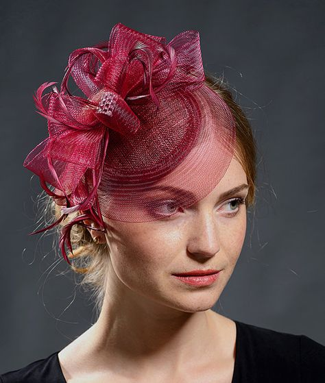 6c5e4c59 Burgundy, red wine colour beautiful fascinator for your winter weddings-  New seasonal colour for the popular style fascinator!