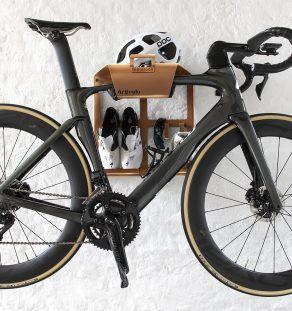 Bikedock Urban Grey Wall Mounted Bike Rack Designed With Leather Cushion Artivelo Bike Storage Bike Storage Wood Bike Rack Wall