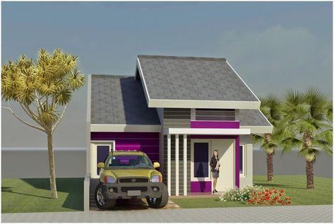 60+ gambar rumah minimalis warna ungu tampak depan