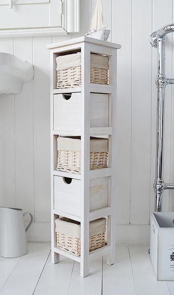20cm Wide Narrow Bathroom Cabinet Bathroomcabinetmodern Narrow Bathroom Cabinet White Bathroom Furniture Small Bathroom Storage