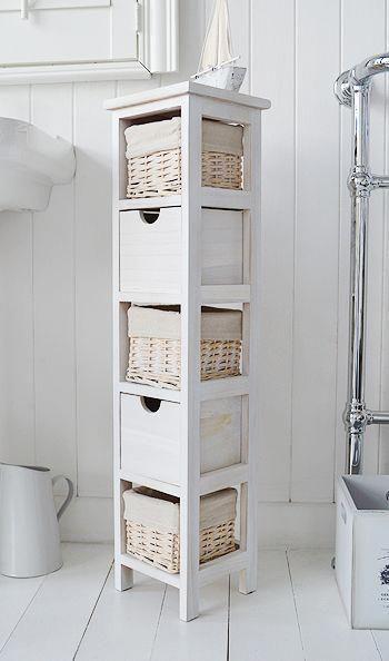 20cm Wide Narrow Bathroom Cabinet Bathroomcabinetmodern Narrow