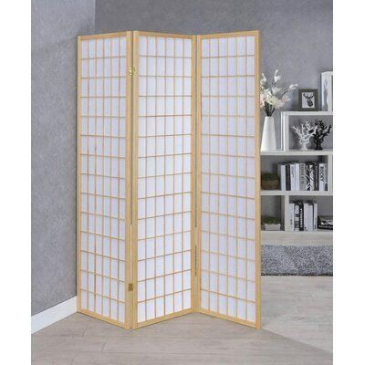 Gracie Oaks Schroer Room Divider Number Of Panels 3 Colour White Beige 1000 White Paneling Room Divider Folding Room Dividers