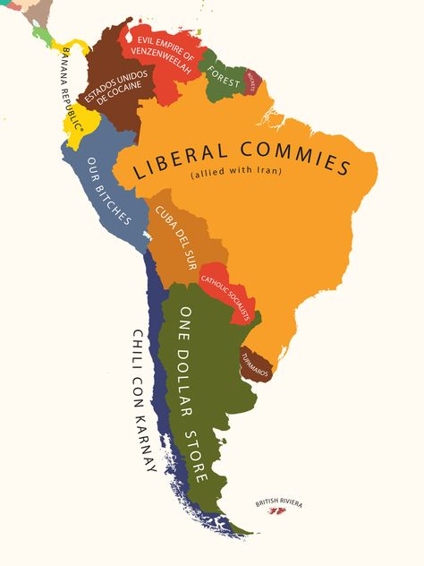 This map showing what each country leads the world in is really all sizes south america according to the united states of america flickr photo gumiabroncs Gallery