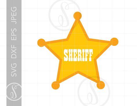 Sheriff Badge SVG | Sheriff Badge Clipart | Sheriff Badge Cut File Download | Star Sheriff Badge Silhouette Svg Jpg Eps Pdf Png SC836