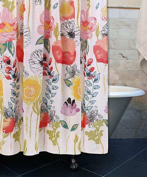 Wildflower Dance Shower Curtain Unique Shower Curtain Dream