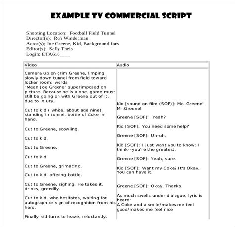 Script Writing Template Script Writing Format Resume Writing