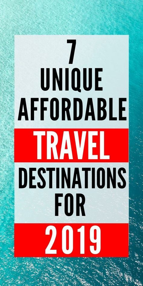 The best cheap international travel destinations of 2019.  Travel doesn't have to be expensive.  Budget travel is easy with these epic and affordable destinations that will save you money.  Pair these deals with some travel hacks and you'll have yourself a cheap vacation. via @outsidenomad #budgettravel #cheaptravel