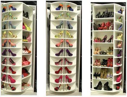 Rotating Shoe Rack, Rotating Shoe Storage