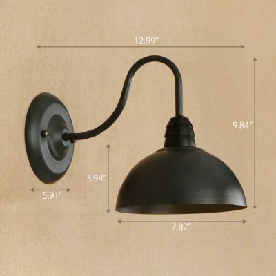 Wall Lamp With 7 87 W Dome