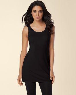 10264aee483 Soma Intimates Pima Cotton Tunic Layering Tank Black #somaintimates