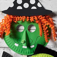 Witch Paper Plate Mask for Halloween & paper plate witch crafts - Google Search | Halloween | Pinterest ...