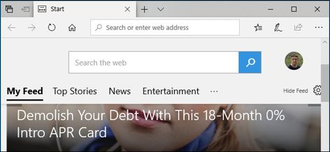 How to Disable the Articles on Microsoft Edge's Start and New Tab Pages