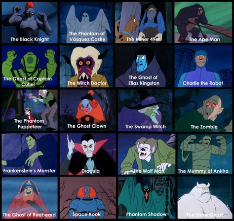 Scooby-Doo Where Are You! -  bad guys from season one