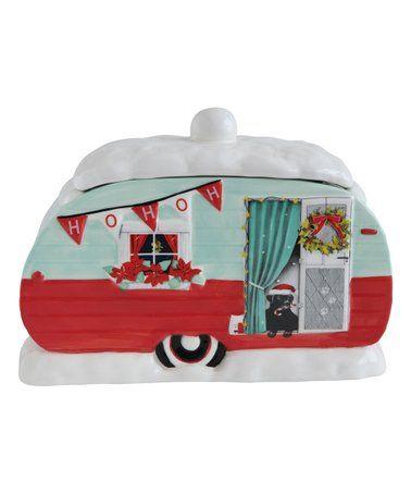 Christmas Camper Travel Trailer Zulily Ceramic Camper Cookie Jar Zulilyfinds Christmas Cookie Jars Red Green Christmas Creative Christmas