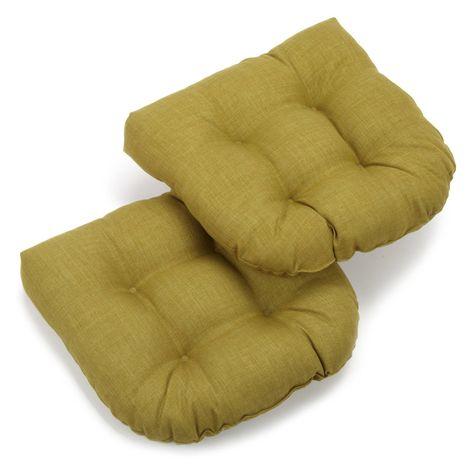 Blazing Needles 19 X 19 In Patio Chair Cushion Set Of 2 Avocado