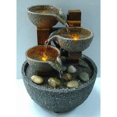 Tabletop Fountain Soothing Lighted 7 Natural River Rocks Battery Operated Ebay In 2020 Indoor Fountain Indoor Water Fountains Water Fountain
