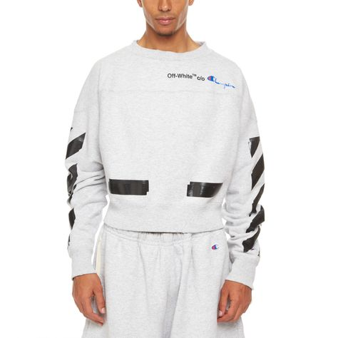 efd4c176 Champion crew from the S/S2018 Off-White c/o Virgil Abloh collection in grey