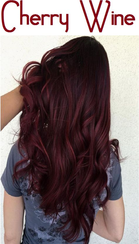 Are you feeling extra fresh? Try this Cherry Wine hair color for a new you. #hiarcolor #hairdye