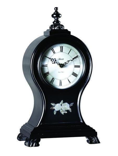 Hermle Oak Ridge Mantel Clock 22926742114 Black Satin Finish