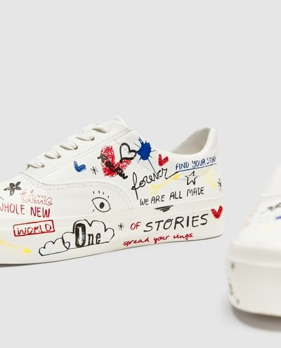 a7950639ca Image 1 of GRAFFITI PLIMSOLLS from Zara | shoes in 2019 | Shoes ...
