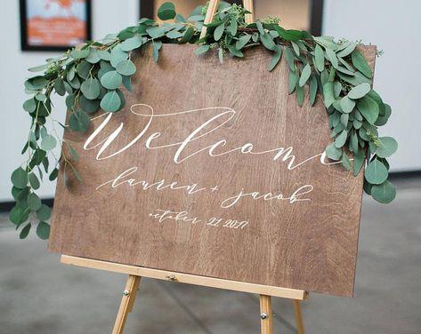 Rustic Wedding Welcome Sign Wood Wedding Signs Wood Wedding Decorations Rustic Wedding Decor Bridal Shower Sign Bridal Shower Welcome Sign