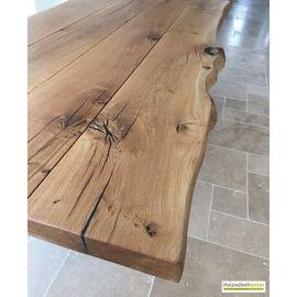 Tisch Mit Baumkante Eiche Stammbohlen Tisch Artikelnummer