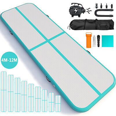 4M Airtrack Inflatable Air Track Floor Home Gymnastic Tumbling Mat GYM with Pump