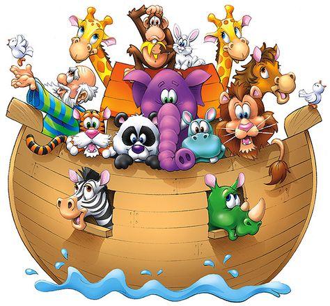 Illustrations Festa Arca De Noe Arca De Noe Desenho Animais Da