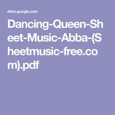 Dancing Queen Sheet Music Abba Sheetmusic Free Com Pdf Sheet