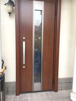 玄関ドアを交換して雰囲気が変わりました 姫路市 T様邸 玄関ドア交換