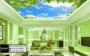 ورق حائط 3d للسقف Outdoor Decor Wallpaper Decor