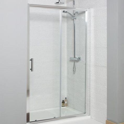 Neve 1850 X 1400 Mm Semi Frameless Glass Sliding Shower Door