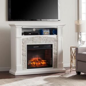 Conway 45 75 In Infrared Electric Fireplace Tv Stand In White
