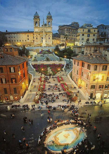Spanish Steps in Rome... the best gelato shop across the street, and the steps make a great place to sit and relax